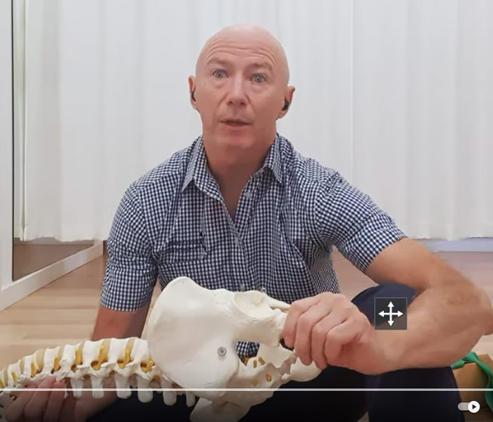 John showing tips on to care for hips